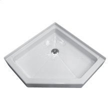 Neo-Angle Shower Bases - White