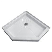 Neo-Angle Shower Bases - White
