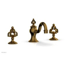 COURONNE Widespread Faucet Cross Handles 163-01 - French Brass
