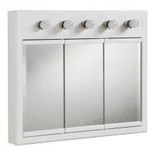 "Concord Lighted 3-Door Medicine Cabinet Mirror 36"", White #532390"