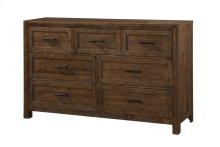 Emerald Home Pine Valley 7 Drawer Dresser-burnished Pine Finish B744-01