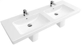 """Double vanity washbasin 51"""" Angular - White Alpin CeramicPlus"""