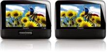 "7"" LCD Dual screens Portable DVD Player"