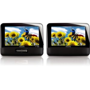 "Philips7"" LCD Dual screens Portable DVD Player"
