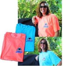 Large Turquoise Blue Holland Logo Tee Shirt