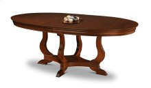 Louis Philippe Oval Pedestal Table