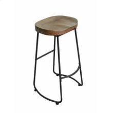 Industrial Driftwood Bar Stool