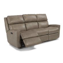 Catalina Leather Power Reclining Sofa with Power Headrests