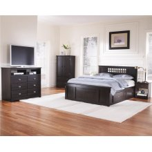 4-Drawer H20 Panel Captains Bed - Full