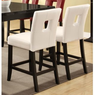 Master Counter Ht Chair White