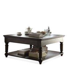 Belmeade Square Lift Top Coffee Table Old World Oak finish