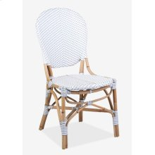 Isabel Outdoor Chair - White/Gray Taupe- MOQ 2 (18.5x24x36)