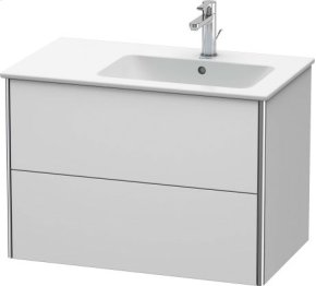 Vanity Unit Wall-mounted, White Satin Matt Lacquer