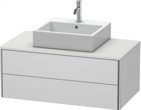Vanity Unit For Console Wall-mounted, White Satin Matt Lacquer