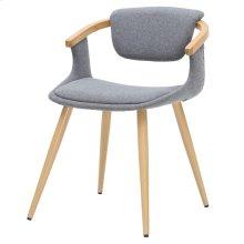 Darwin KD Fabric Bamboo Chair, Stokes Gray/Natural