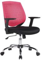 Modrest Prime Modern Black and Red Office Chair Product Image