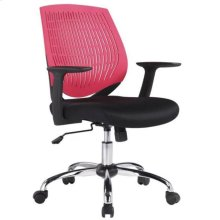 Modrest Prime Modern Black and Red Office Chair