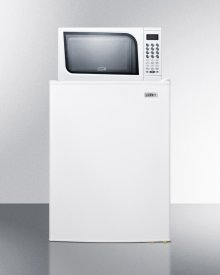 Refrigerator-freezer-microwave Combination In White Finish