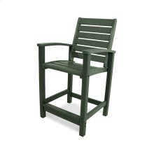 Green Signature Counter Chair