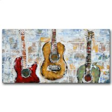 GuitarTrio 23x47 Mixed Media