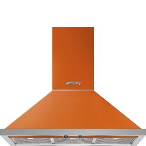 "Smeg36"" Portofino, Chimney Hood, Orange"