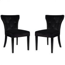 Elise Side Chair in Black Velvet (Set Of 2) Product Image
