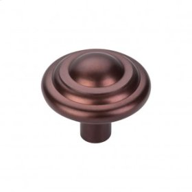 Aspen Button Knob 1 3/4 Inch - Mahogany Bronze