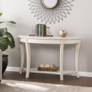 Laverly Traditional Demilune Console Table - Whitewash Product Image