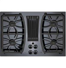 "GE Profile Series 30"" Built-In Gas Downdraft Cooktop"