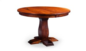 Avalon Round Single Pedestal Table, 1 Leaf