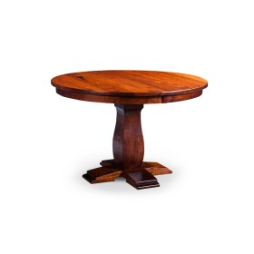 "Avalon Round Single Pedestal Table, 18"" Butterfly Leaf"
