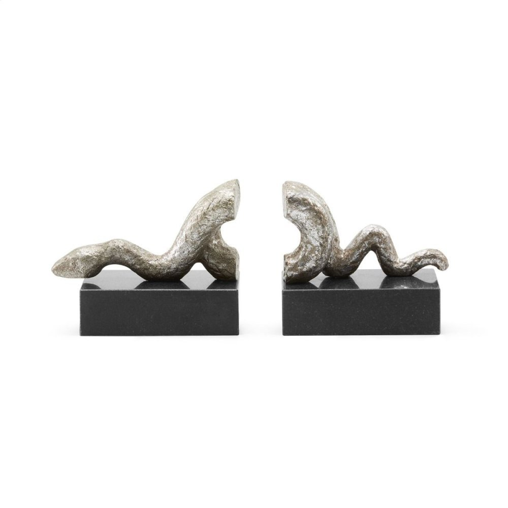 Asp Bookends, Silver