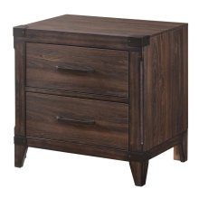Richmond Rustic Dark Grey Oak Nightstand