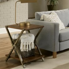 Ryder - Chairside Table - Rustic Clove Finish