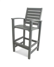 Slate Grey Signature Bar Chair