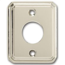 Traditional Rectangular Surface Mounted Rose - Solid Brass