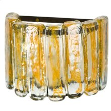 Blown Glass Yellow Wall Sconce