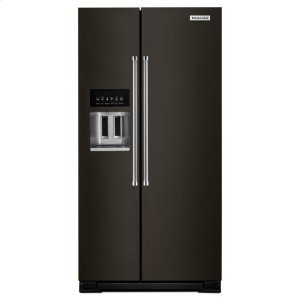 KITCHENAIDKitchenAid(R) 22.7 Cu. Ft. Counter Depth Side-by-Side Refrigerator with Exterior Ice and Water - Black Stainless