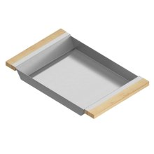 Tray 205334 - Stainless steel sink accessory , Maple