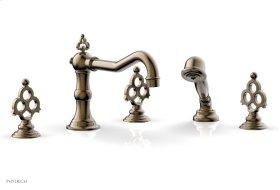 MAISON Deck Tub Set with Hand Shower 164-48 - Antique Brass