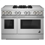 "Jenn-AirRISE 48"" Dual-Fuel Professional Range with Dual Chrome-Infused Griddles"