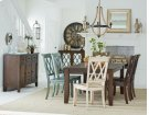 Grey Leg Table and 6 chairs (multi-colored) Product Image
