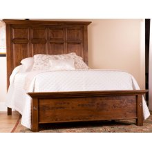Tall Panel Bed w/ Shortened Footboard
