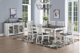 "Joanna Two Tone Dining Table 40""x64""x80"" w/16"" Leaf"