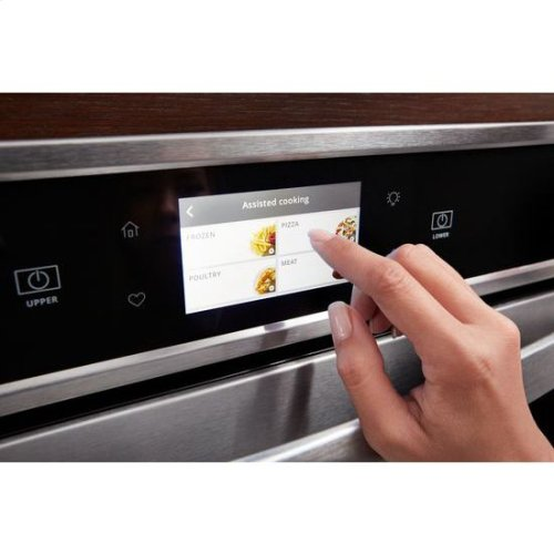 Whirlpool® 8.6 cu. ft. Smart Double Wall Oven with True Convection Cooking - Black-on-Stainless