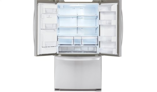 20 cu. ft. Large Capacity Counter-Depth 3-Door French Door Refrigerator