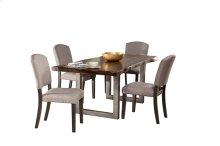 Emerson 5pc Rectangle Dining Set - Gray Sheesham