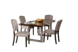 Emerson 5pc Rectangle Dining Set - Gray Sheesham