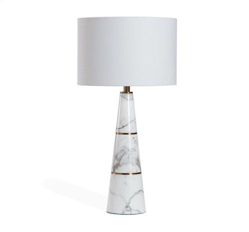 Dex Lamp - White/ Antique Brass