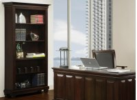 Florentino Bookcase W/3 Adjustable Shelves No Doors Product Image